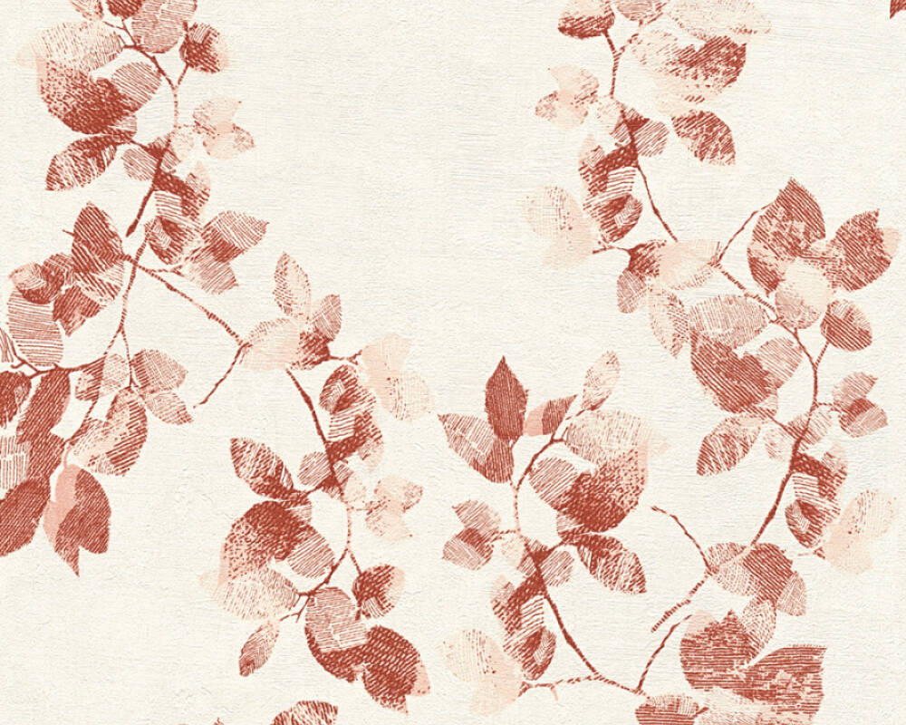 Daniel Hechter Wallpaper Cottage, Floral, Cream, Red 344941