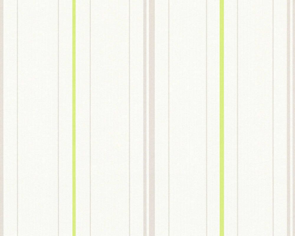 Papier Peint A Rayure Gris Et Blanc a.s. création papier peint «rayures, blanc, gris, vert» 347641