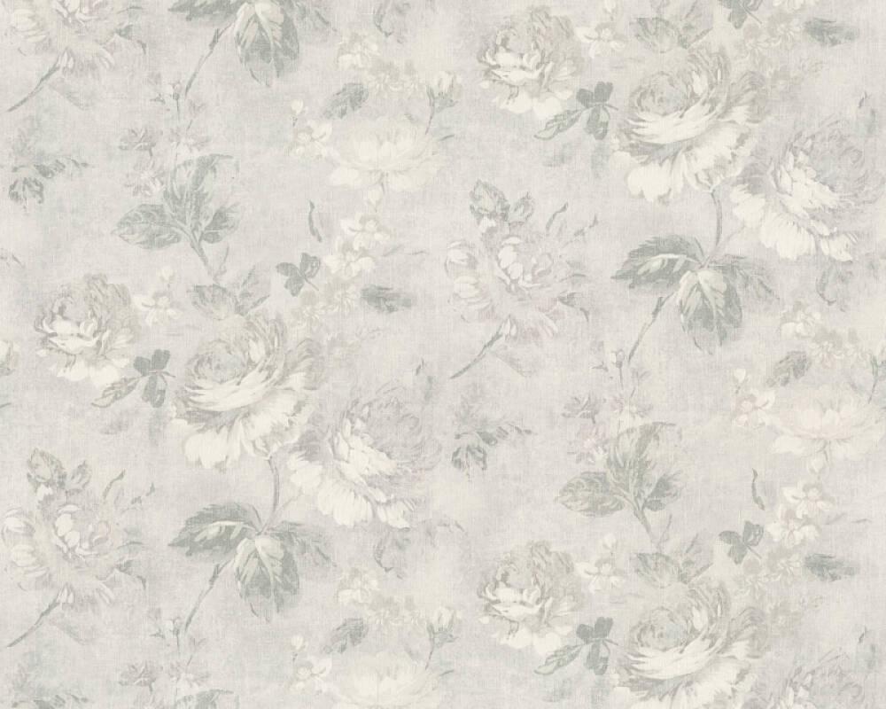 Originals Wallpaper Cottage Flowers Grey Metallic Silver