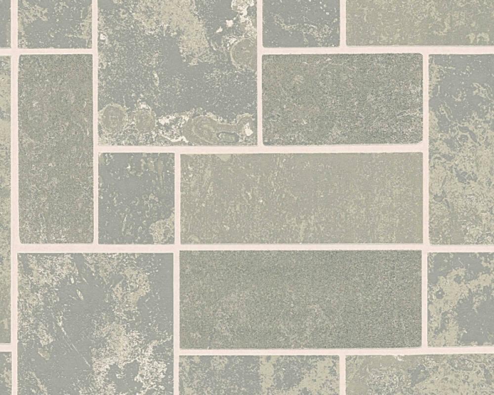 A.S. Création Wallpaper Tile, Grey, Metallic, Silver 347792