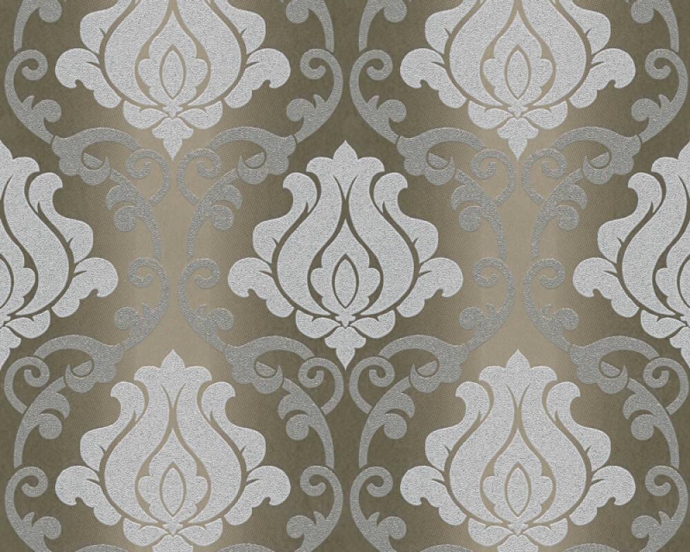 A.S. Création Wallpaper Baroque, Bronze, Brown, Grey, Metallic 348603
