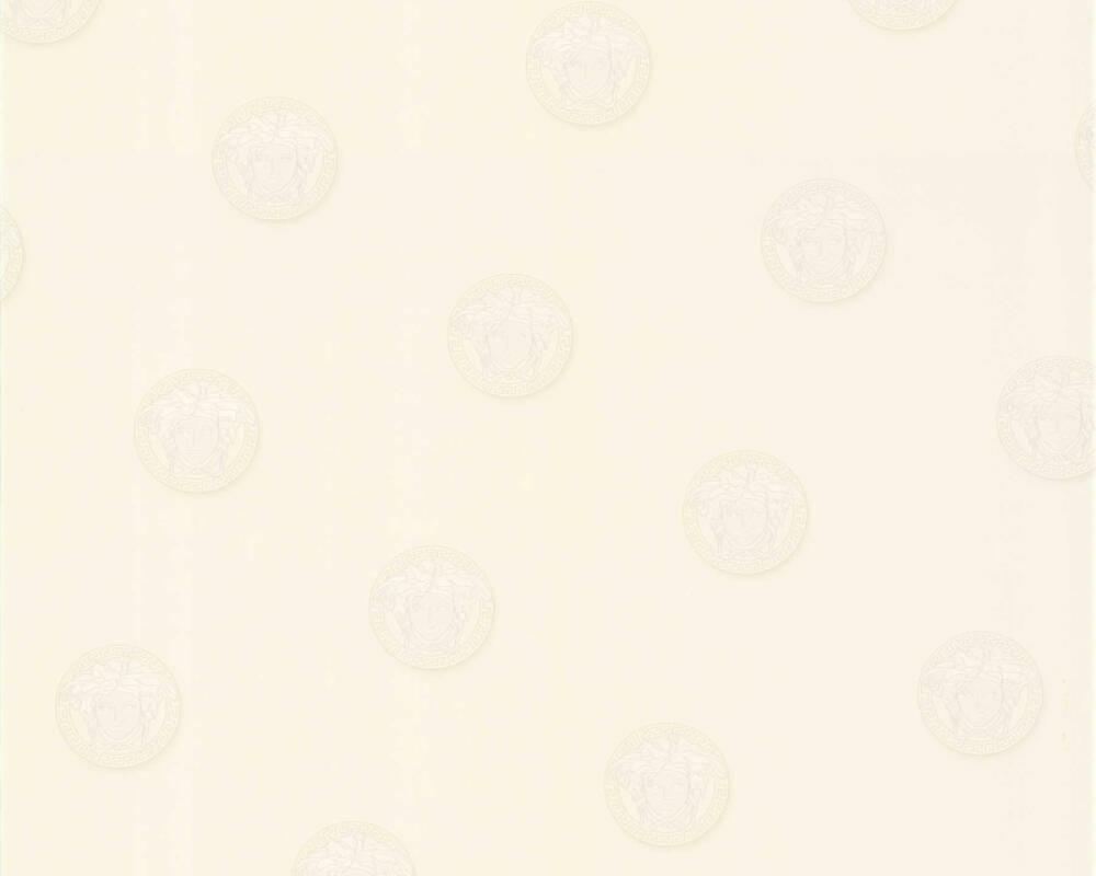 Versace Home Tapete Uni, Grau, Weiß 348621