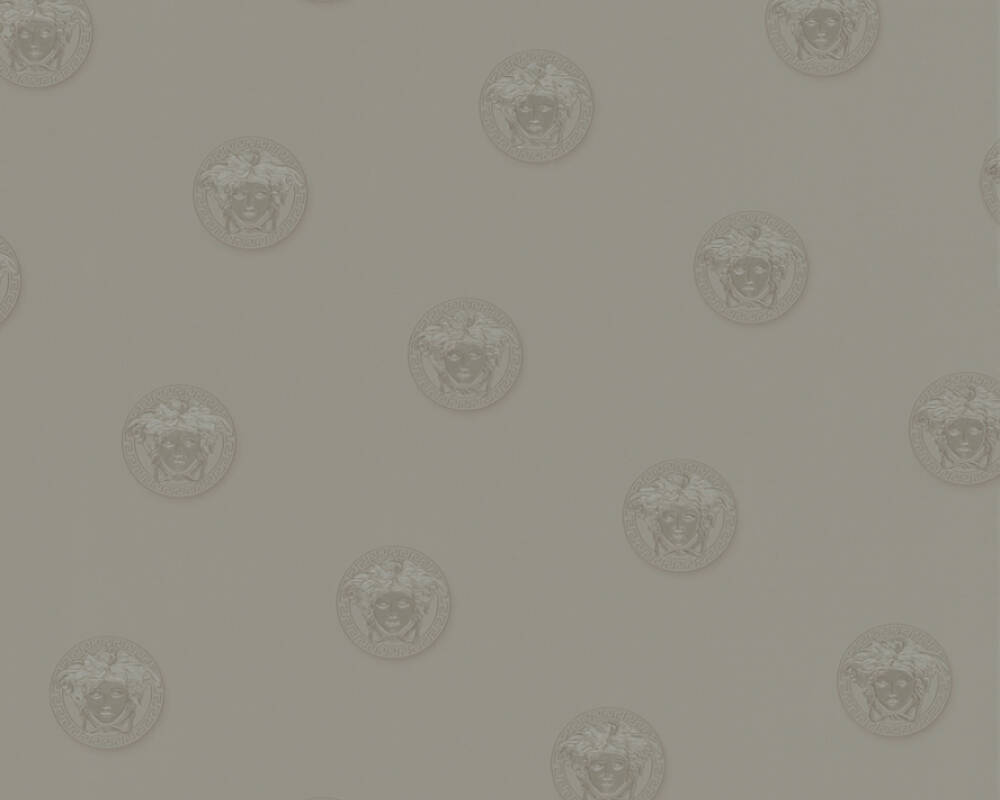 Versace Home papier peint Uni, gris 348623