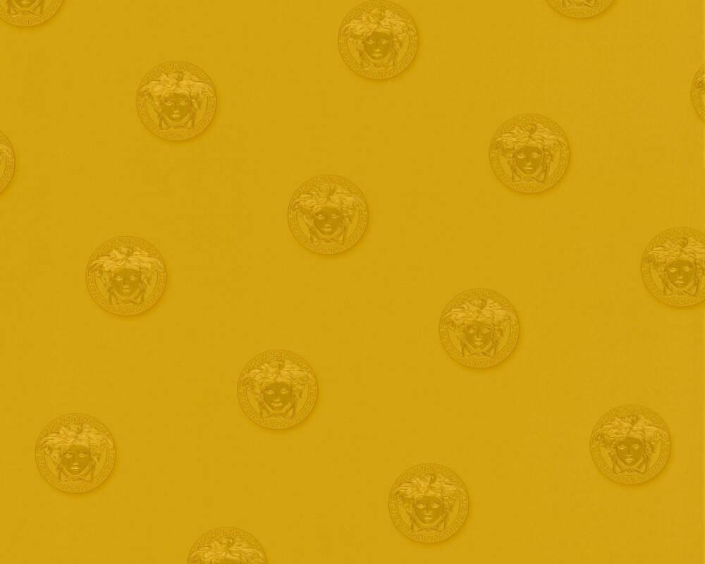 Versace Home Обои Текстиль, Желтыe, Золото, Металлик 348624