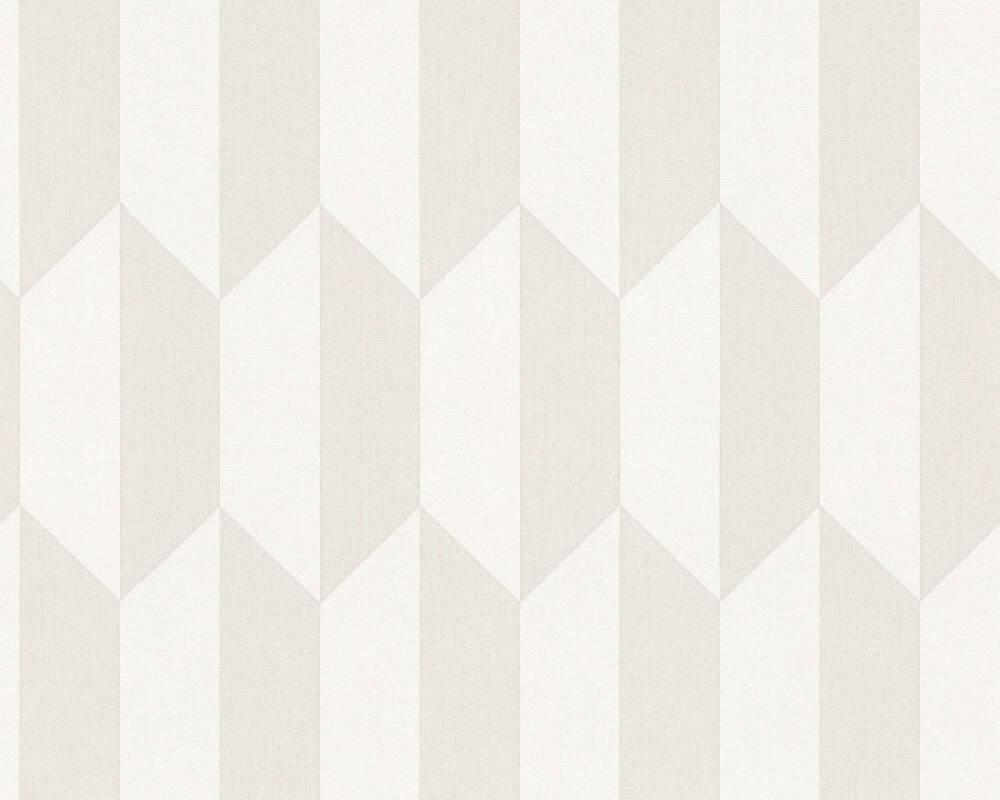 A.S. Création papier peint Graphique, beige, crème 349001