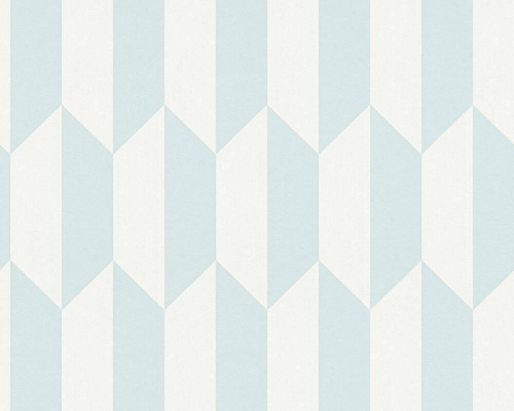 A.S. Création papier peint Graphique, bleu, gris 349004