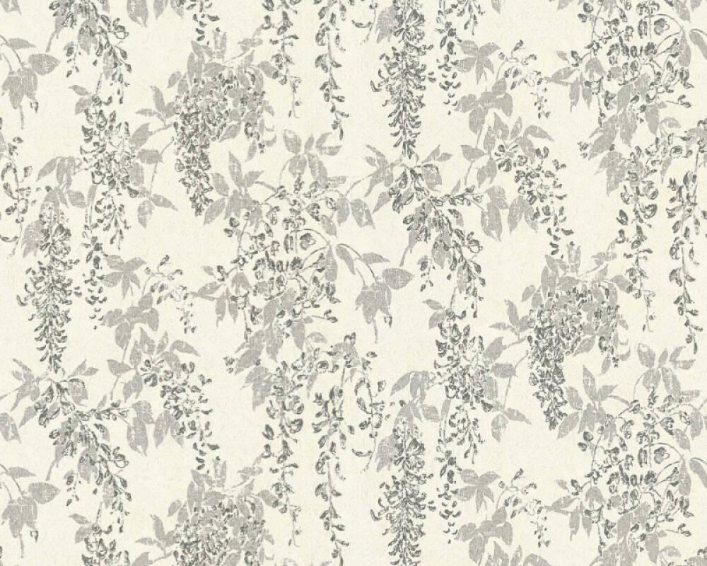 ORIGINALS Обои Флора, Белые, Металлик, Серебро, Серыe 351142