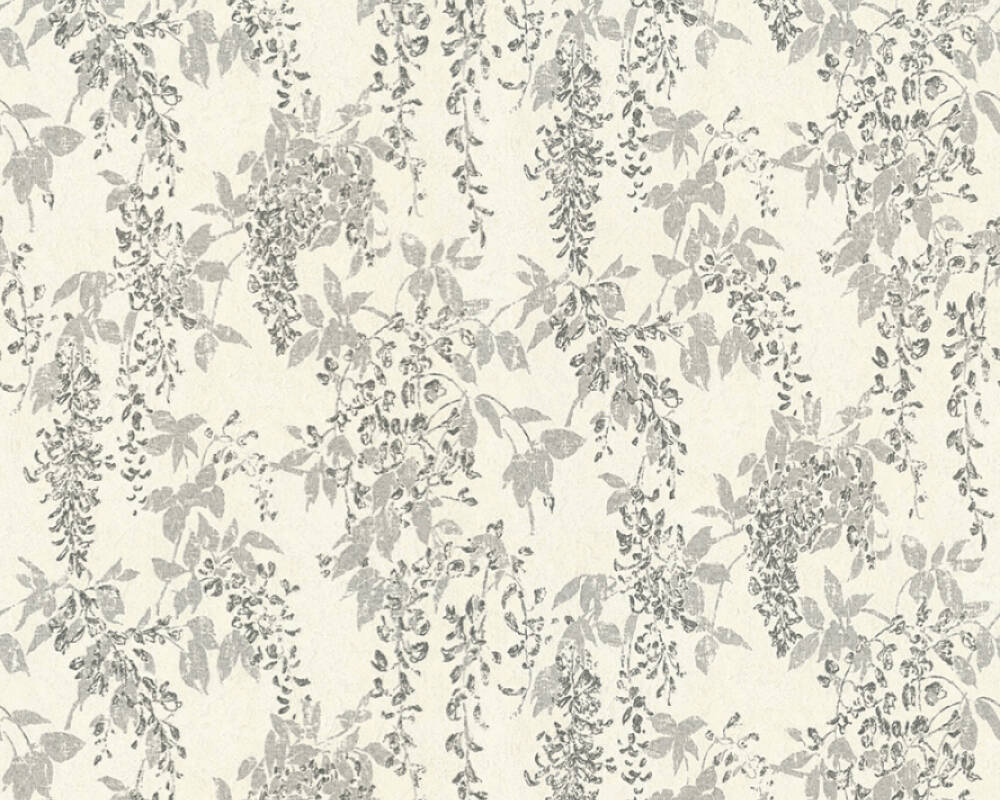 ORIGINALS Wallpaper Floral, Grey, Metallic, Silver, White 351142