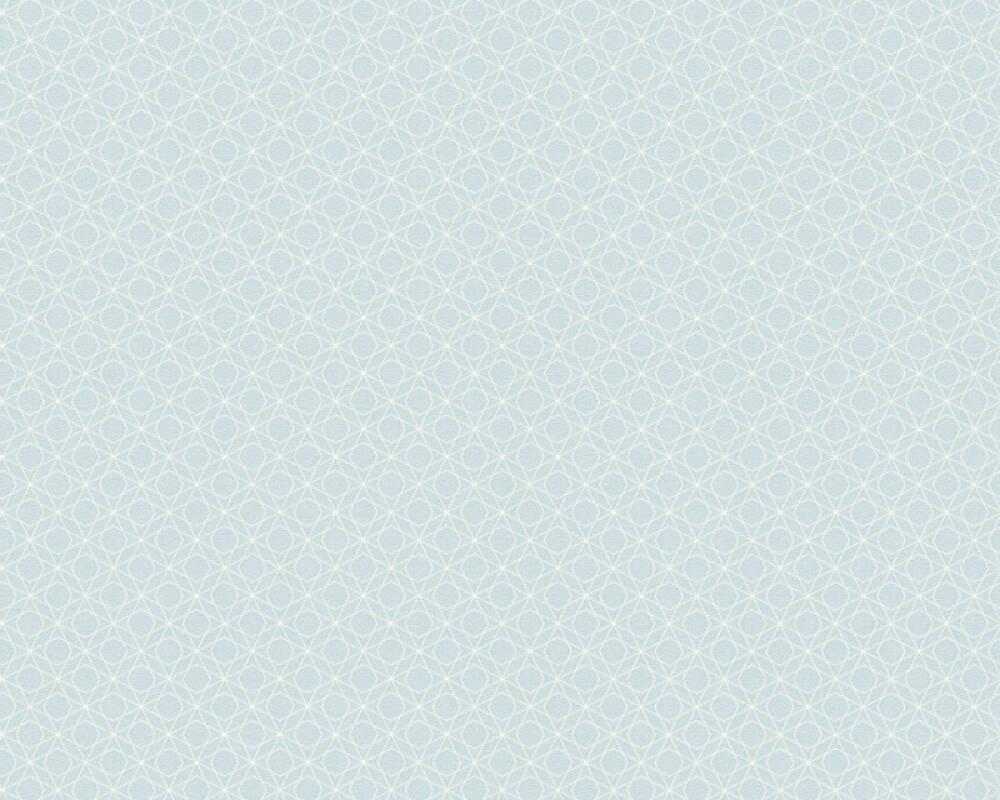 A.S. Création papier peint Graphique, blanc, bleu 351172