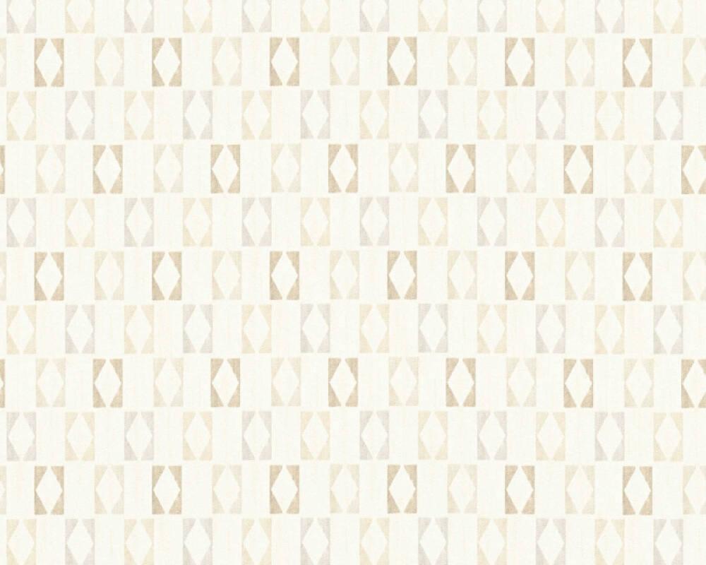 A.S. Création papier peint Graphique, blanc, gris, métallique, or 351183