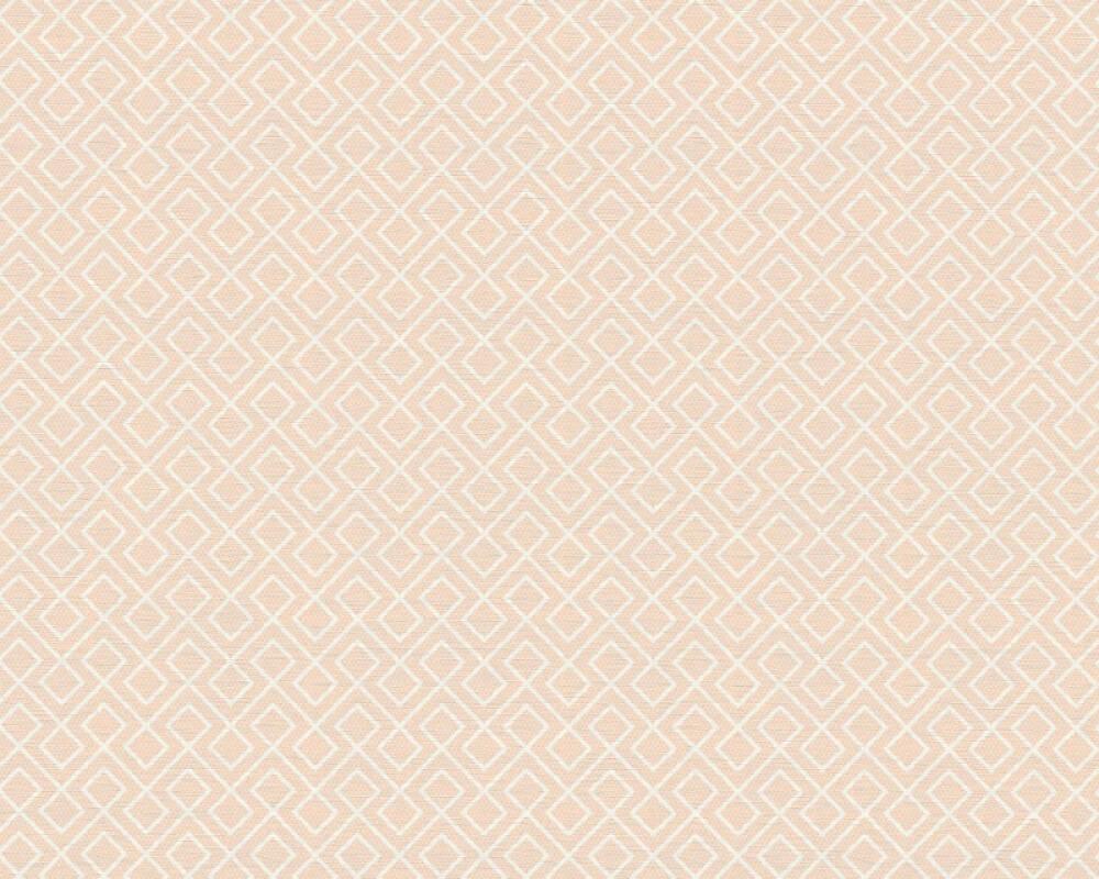 A.S. Création papier peint Graphique, blanc, rose 351801