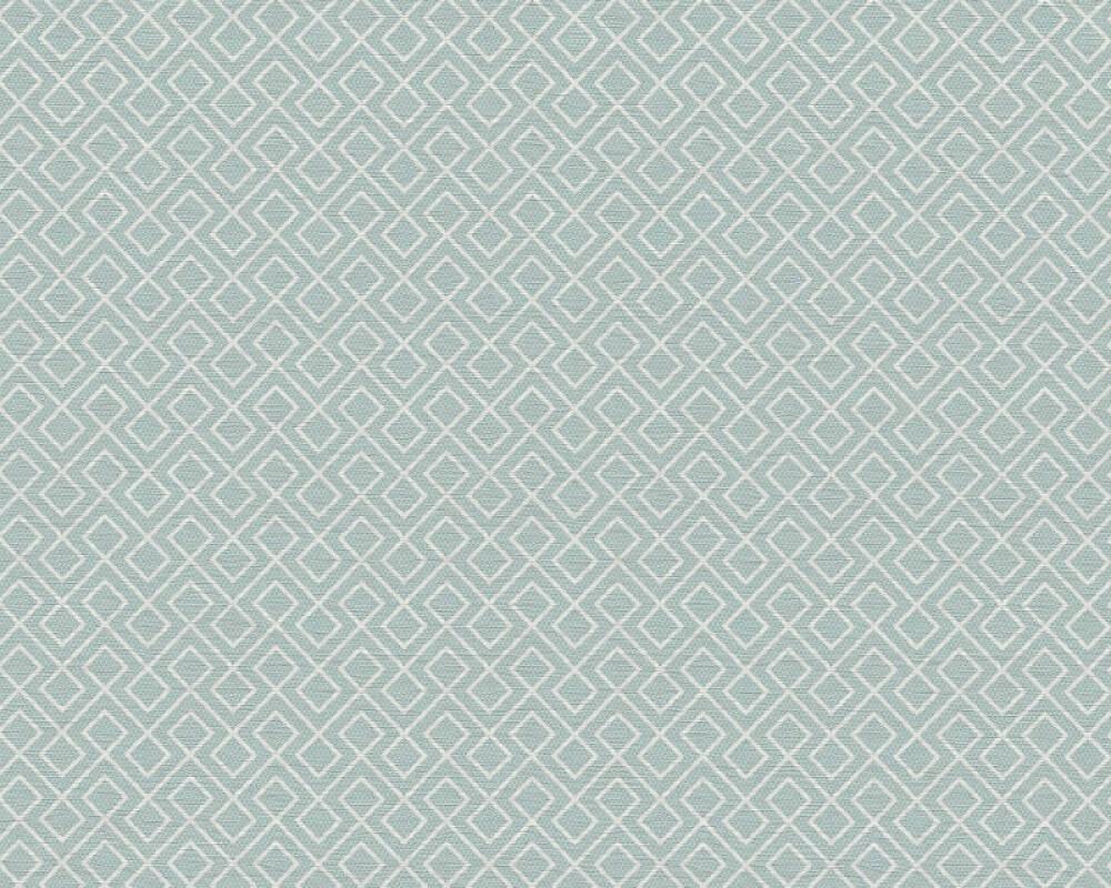 A.S. Création papier peint Graphique, blanc, bleu 351804