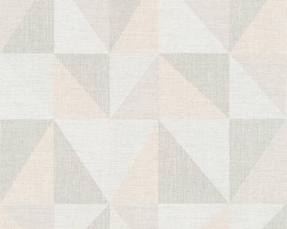 A.S. Création papier peint Graphique, crème, gris, rose 351812