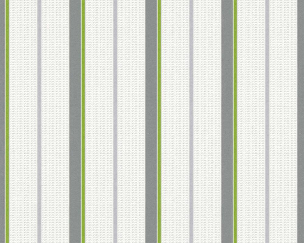 Papier Peint A Rayure Gris Et Blanc esprit home papier peint «rayures, blanc, gris, vert» 357071
