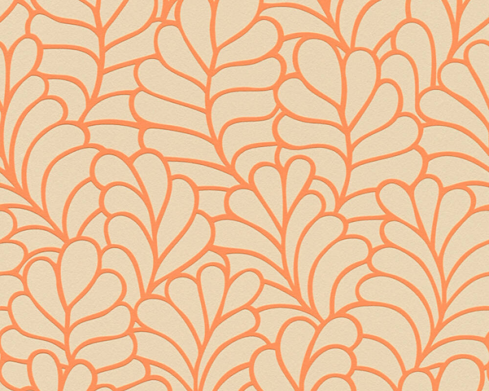 Esprit Home Wallpaper Graphics, Beige, Orange 357112