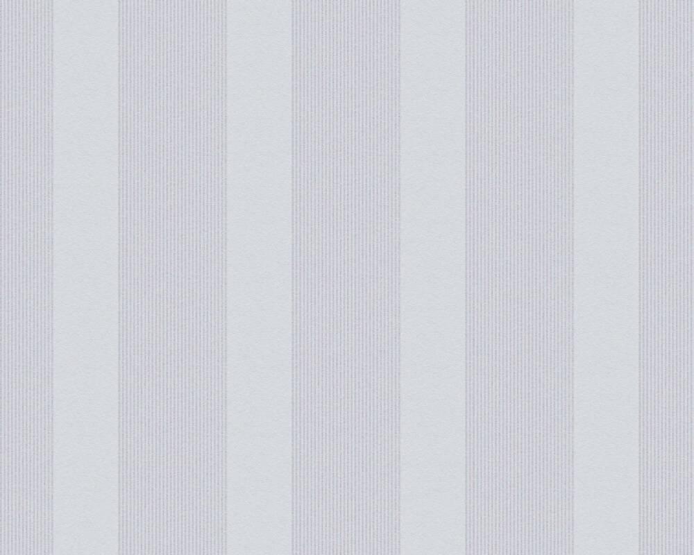 Esprit Home Wallpaper Stripes, Grey, Metallic, Silver 357132