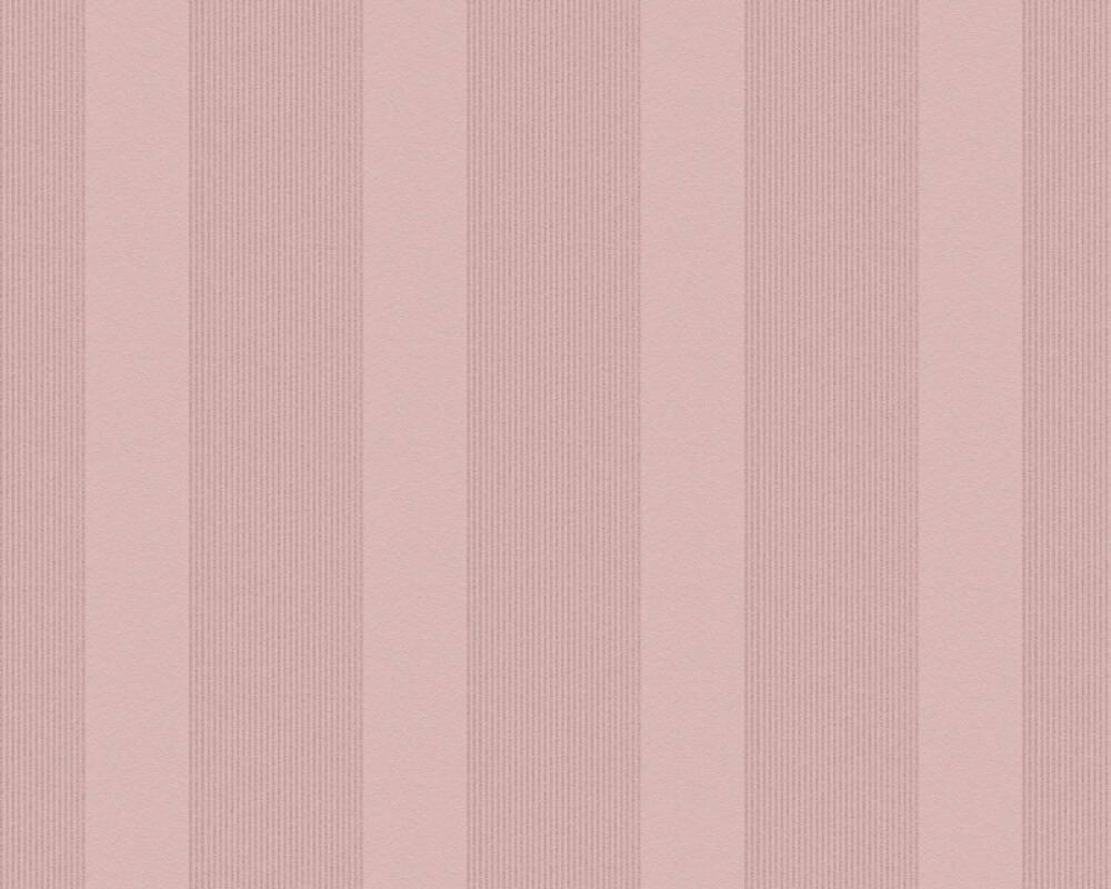 Esprit Home Wallpaper Stripes, Gold, Metallic, Pink, Red 357133