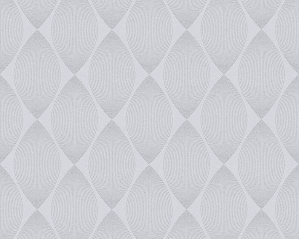 Esprit Home Wallpaper Graphics, Grey, Metallic, Silver 357142