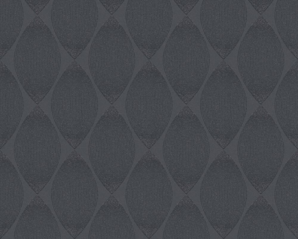 Esprit Home Wallpaper Graphics, Black, Metallic, Silver 357144