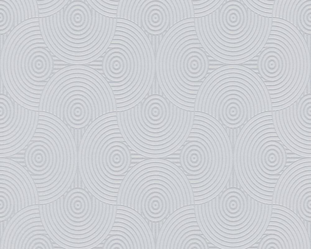 Esprit Home Wallpaper Graphics, Grey, Metallic, Silver 357152