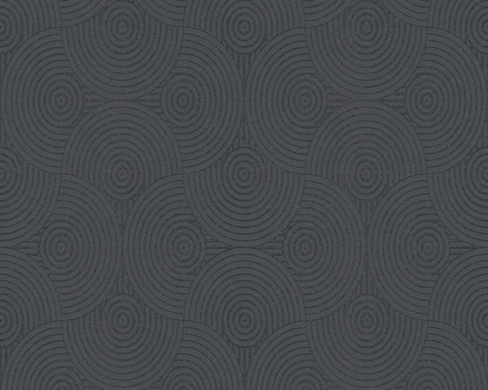 Esprit Home Wallpaper Graphics, Black, Metallic, Silver 357154