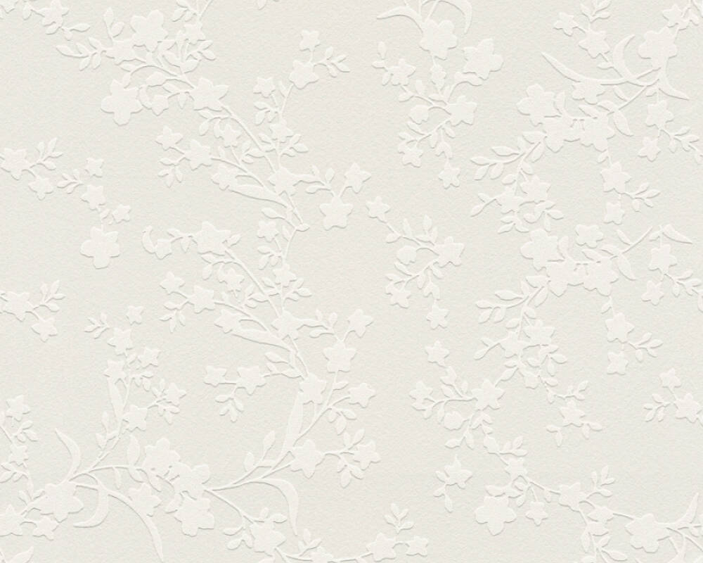 Esprit Home Wallpaper Flowers, Beige 357533