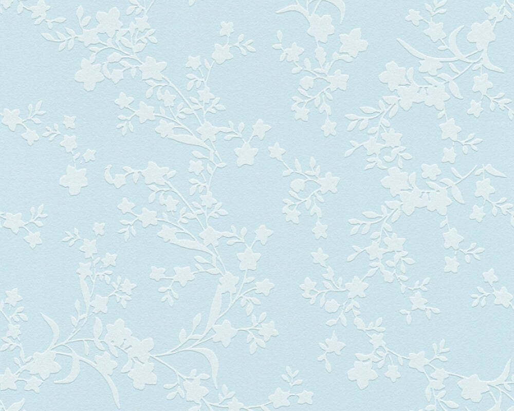 Esprit Home Wallpaper Flowers, Blue 357534