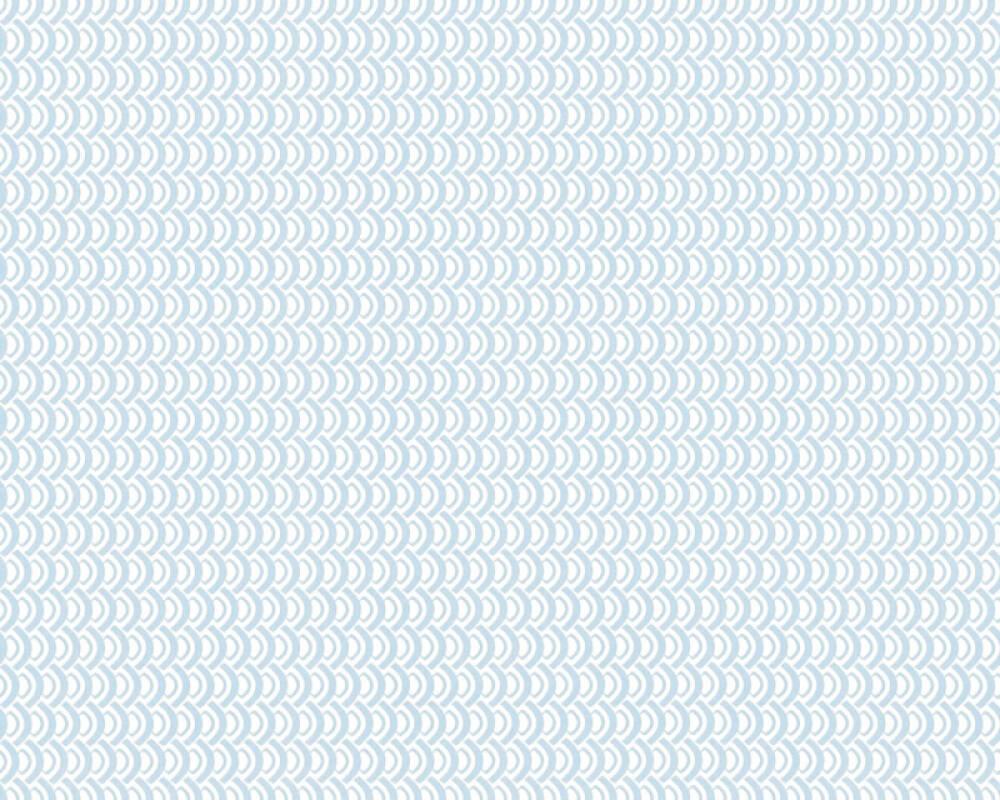 Esprit Home Wallpaper Graphics, Blue, Metallic, White 358191