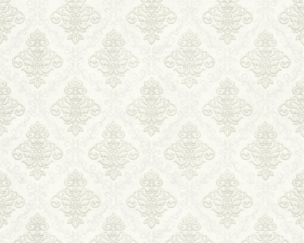 A.S. Création Wallpaper 359332: Wallpaper, wallpapers, wallpaper, wallpaer, walpaper, walpapper, Beige, Cream, Metallic, Silver, Baroque, Cottage, baroque, cottage, Hallway, Kitchen, Living, Sleeping, corridor, kitchen, living room, bedroom, Duetto