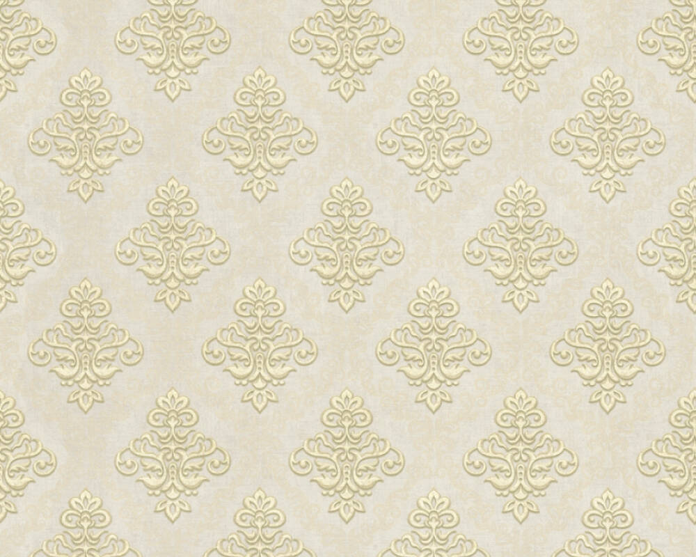 A.S. Création Wallpaper 359333: Wallpaper, wallpapers, wallpaper, wallpaer, walpaper, walpapper, Beige, Brown, Gold, Metallic, Baroque, Cottage, baroque, cottage, Hallway, Kitchen, Living, Sleeping, corridor, kitchen, living room, bedroom, Duetto