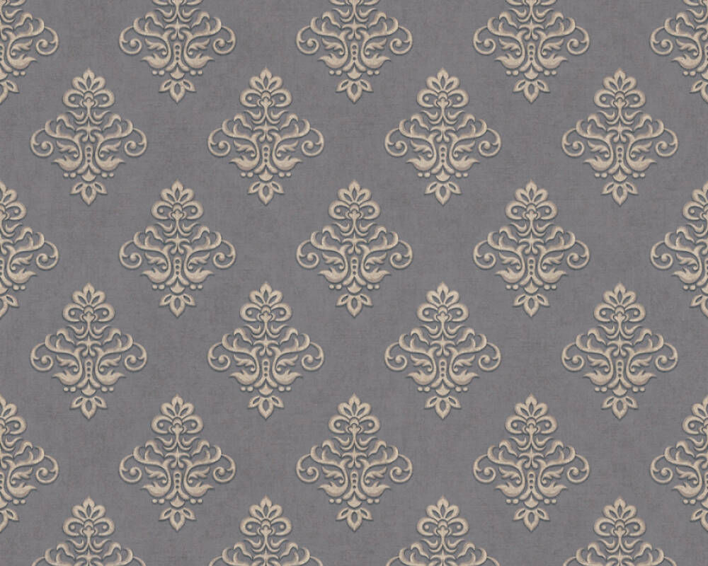 A.S. Création Wallpaper 359336: Wallpaper, wallpapers, wallpaper, wallpaer, walpaper, walpapper, Beige, Black, Metallic, Baroque, Cottage, baroque, cottage, Hallway, Kitchen, Living, Sleeping, corridor, kitchen, living room, bedroom, Duetto