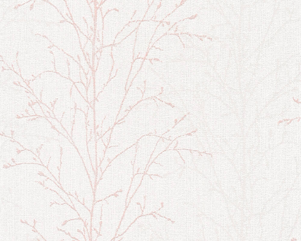 A S Creation Wallpaper Floral Grey Pink White 359691