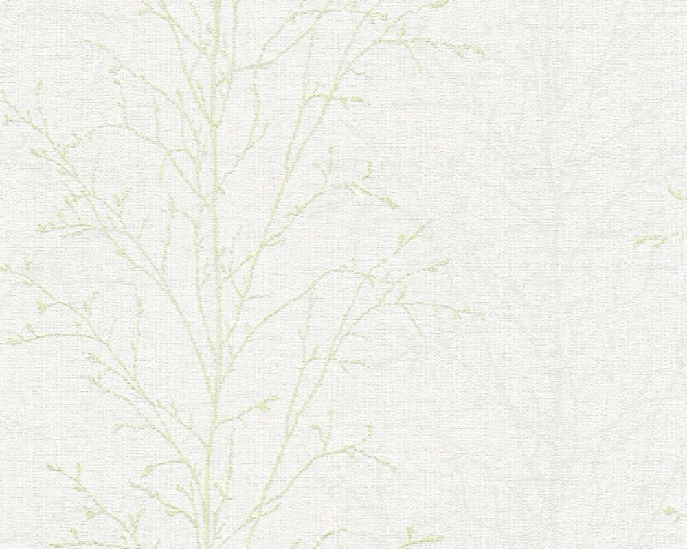 A.S. Création Tapete Floral, Grau, Grün, Weiß 359692