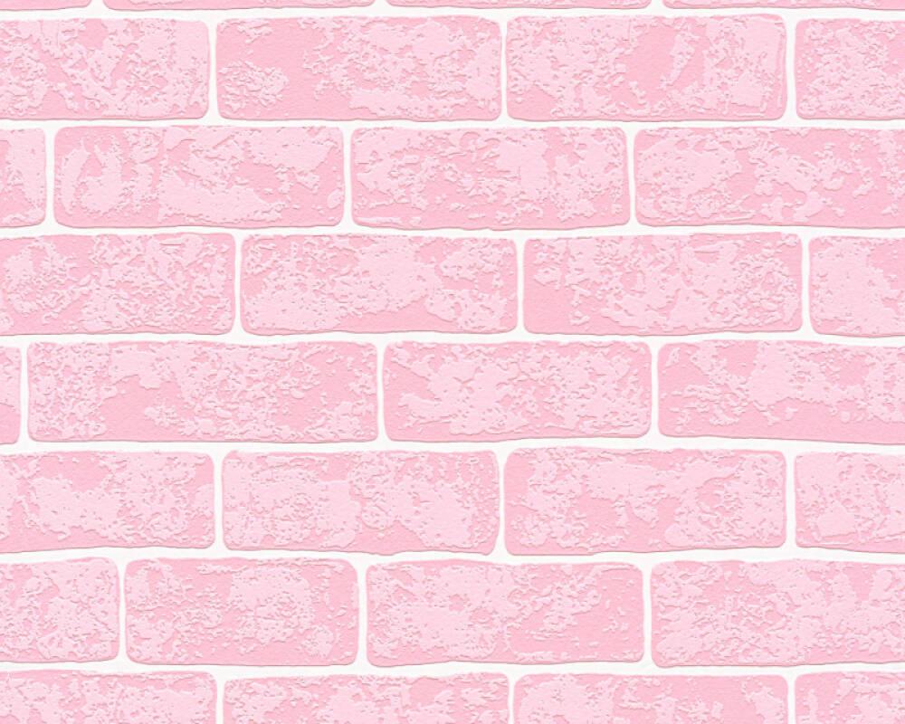 A.S. Création Обои Под камень, Белые, Розовые 359812