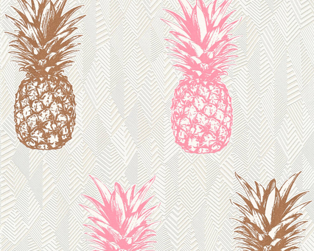 A.S. Création Wallpaper 359973: Wallpaper, wallpapers, wallpaper, wallpaer, walpaper, walpapper, Copper, Cream, Pink, White, Deco / Motive, Image, Modern, deco / motive, motive, modern, Hallway, Kitchen, Living, Sleeping, corridor, kitchen, living room, bedroom, Club Tropicana