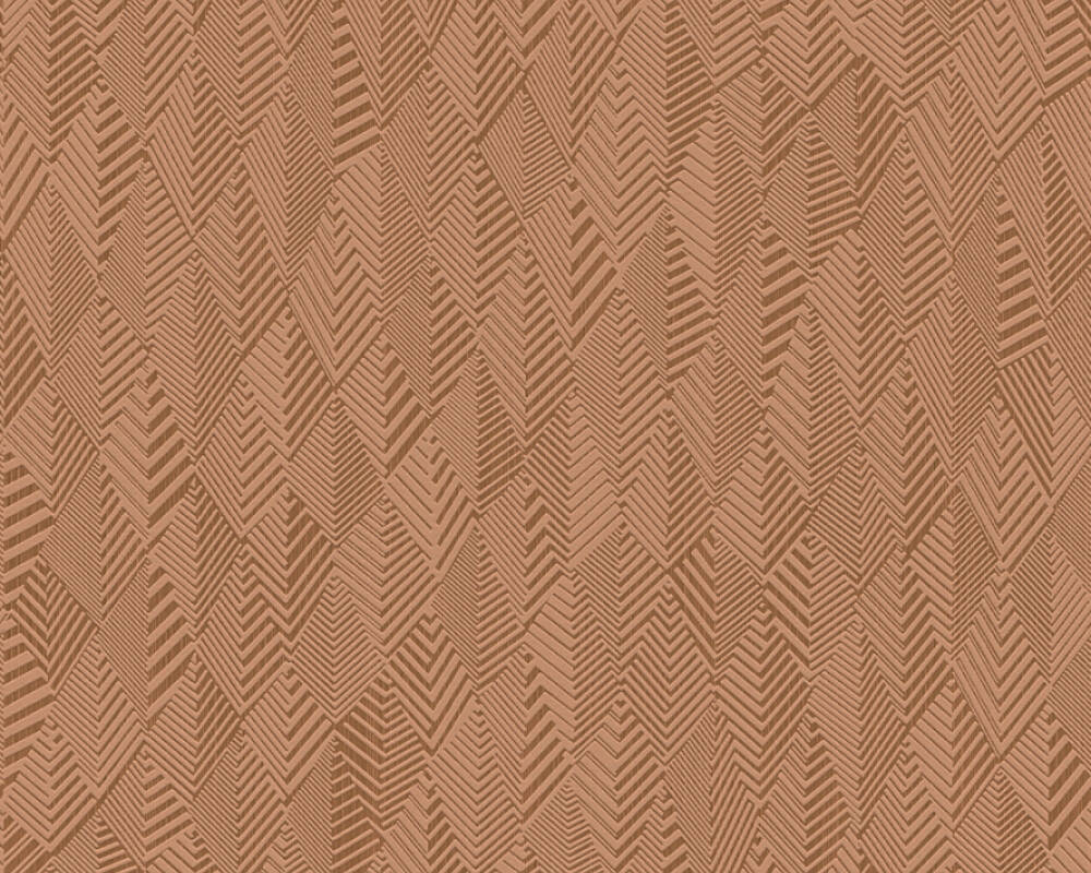 A.S. Création Wallpaper Graphics, Brown, Copper, Metallic 359984