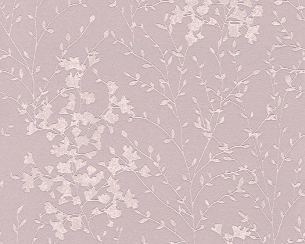 A.S. Création Tapete Blumen, Braun, Metallics, Rosa 360822