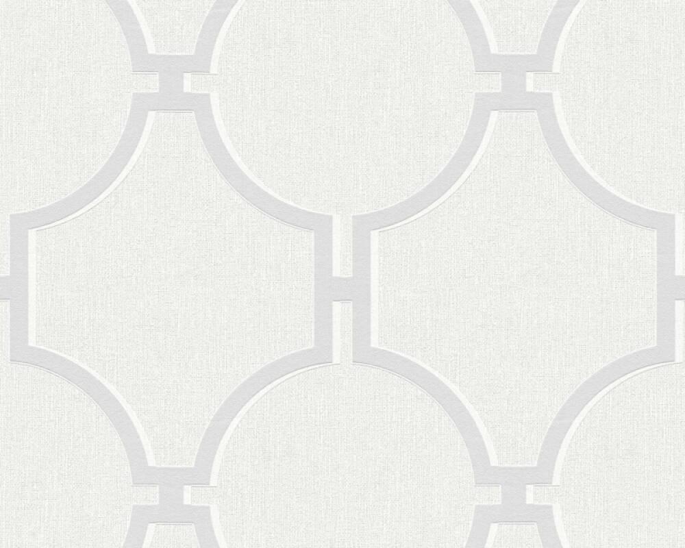 A.S. Création papier peint Baroque, blanc, crème, gris 361491