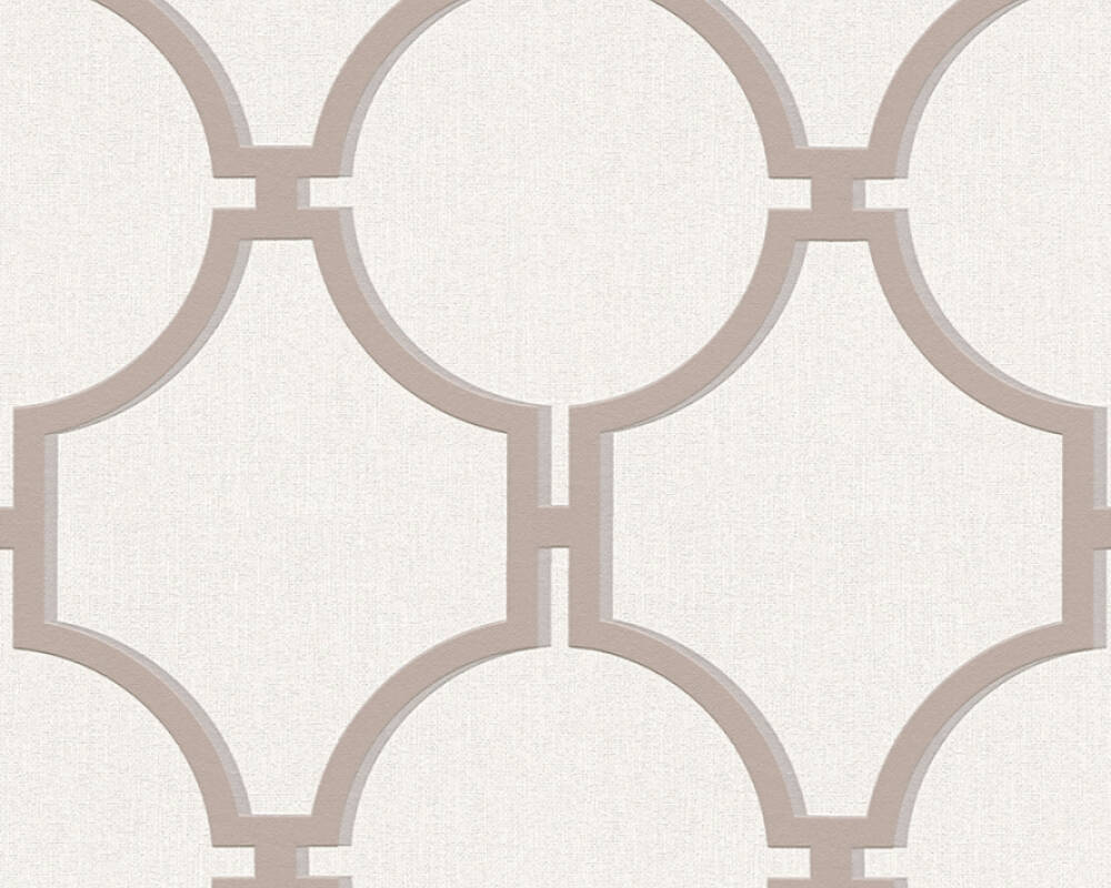 A.S. Création Wallpaper Baroque, Brown, Cream, Grey 361493