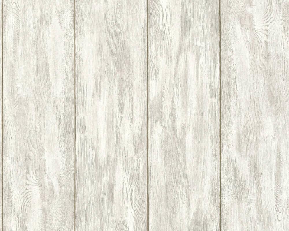 Holz Vlies Tapete A.S.Crèation 36152-1  Bude 2.0  beige creme grau