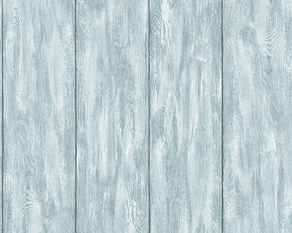 A.S. Création Wallpaper Wood, Blue, Green, Grey, Turquoise 361523