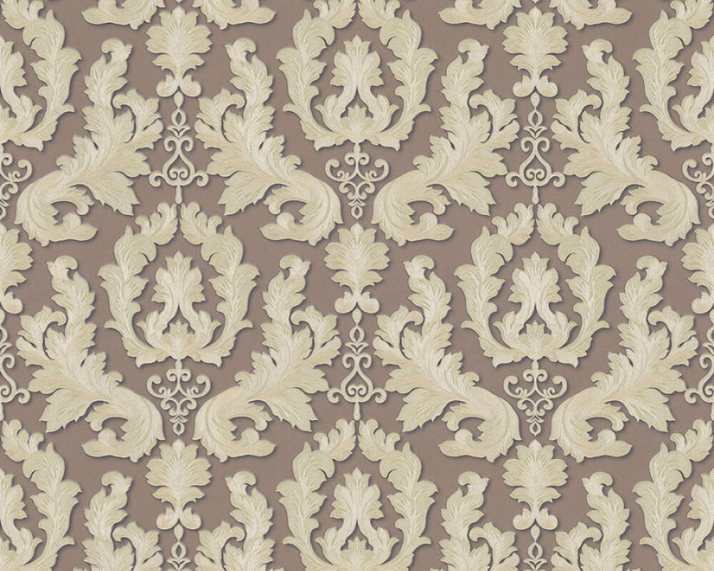 A.S. Création Wallpaper 361635: Wallpaper, wallpapers, wallpaper, wallpaer, walpaper, walpapper, Brown, Cream, Metallic, Classical, classic, Hallway, Living, Sleeping, corridor, living room, bedroom, Duetto