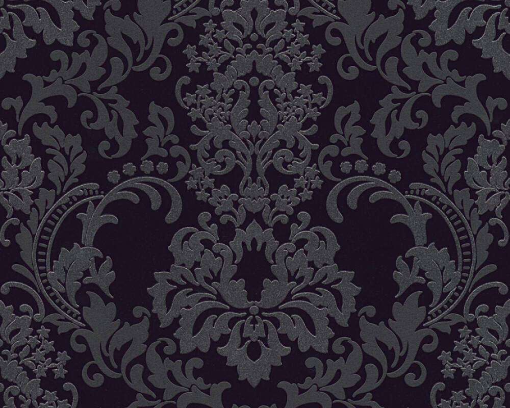 A.S. Création Wallpaper Baroque, Black 361663