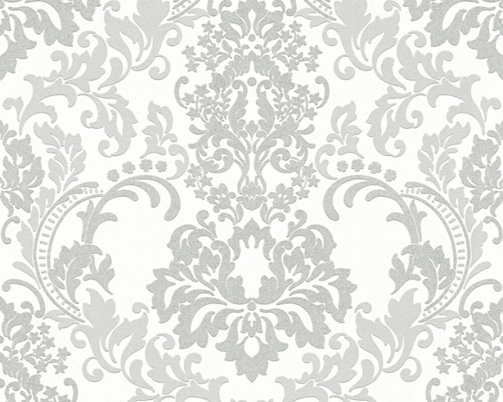 A.S. Création Wallpaper 361664: Wallpaper, A.S. Création Neue Bude 2.0, Black White, wallpapers, wallpaper, wallpaer, walpaper, walpapper, Grey, White, Baroque, baroque, Hallway, Kitchen, Living, Office, Sleeping, corridor, kitchen, living room, office, bedroom