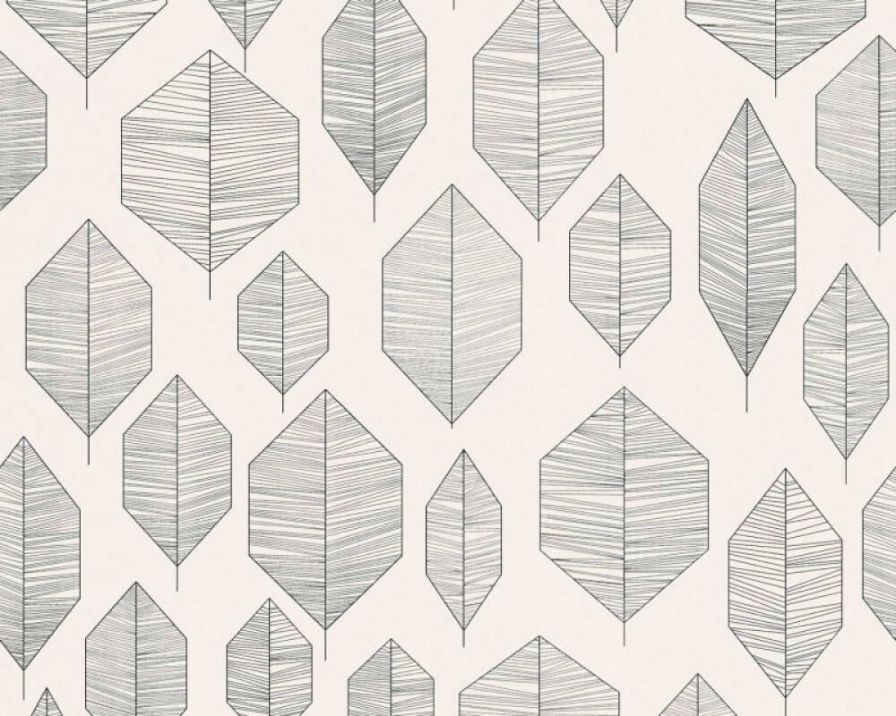 Livingwalls Wallpaper Graphics, Black, Cream 362092