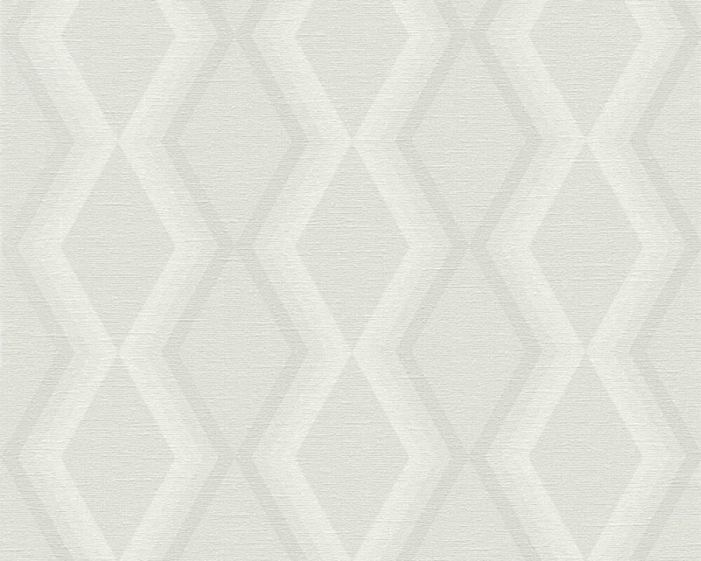 Daniel Hechter Wallpaper Graphics, Cream, Grey 362622