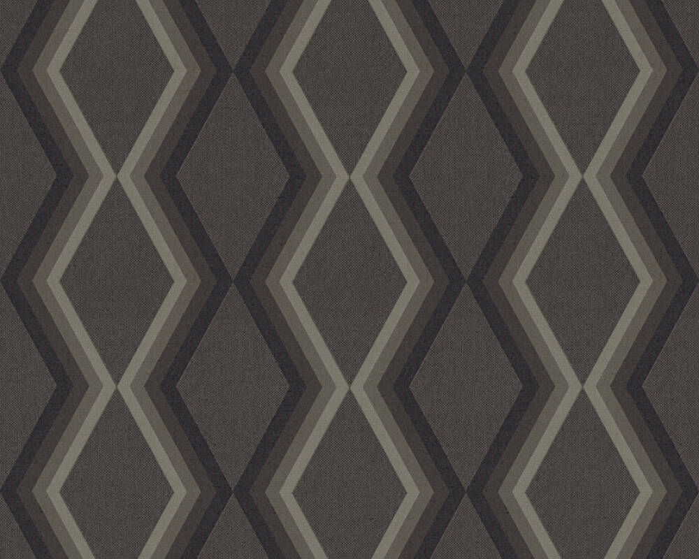 Daniel Hechter Wallpaper Graphics, Black, Grey 362625