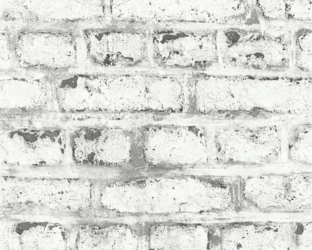 A.S. Création Wallpaper Stone, Cottage, Grey, White 362802