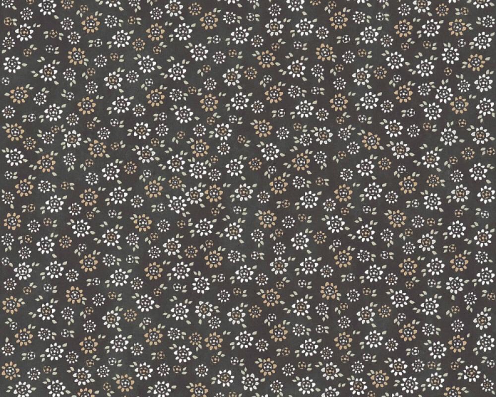 Livingwalls papier peint Maison, Fleurs, beige, gris, noir, taupe 362924