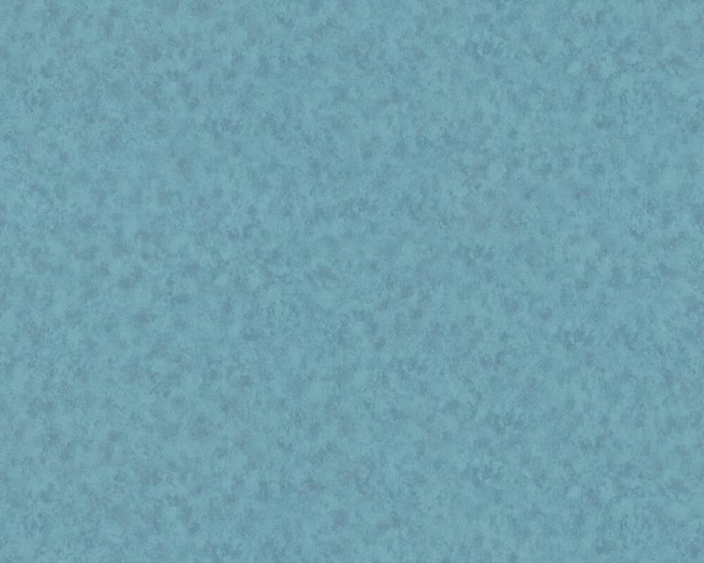 A.S. Création papier peint Uni, bleu 363205